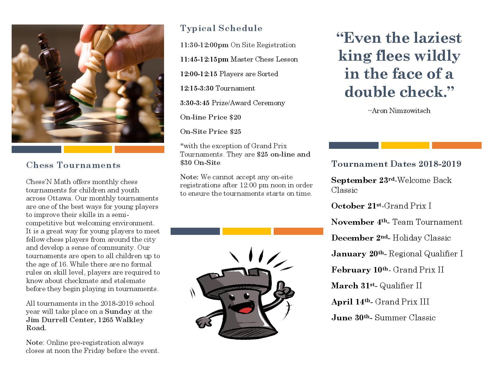 2018-2019 Ottawa Chess Tournaments P.2