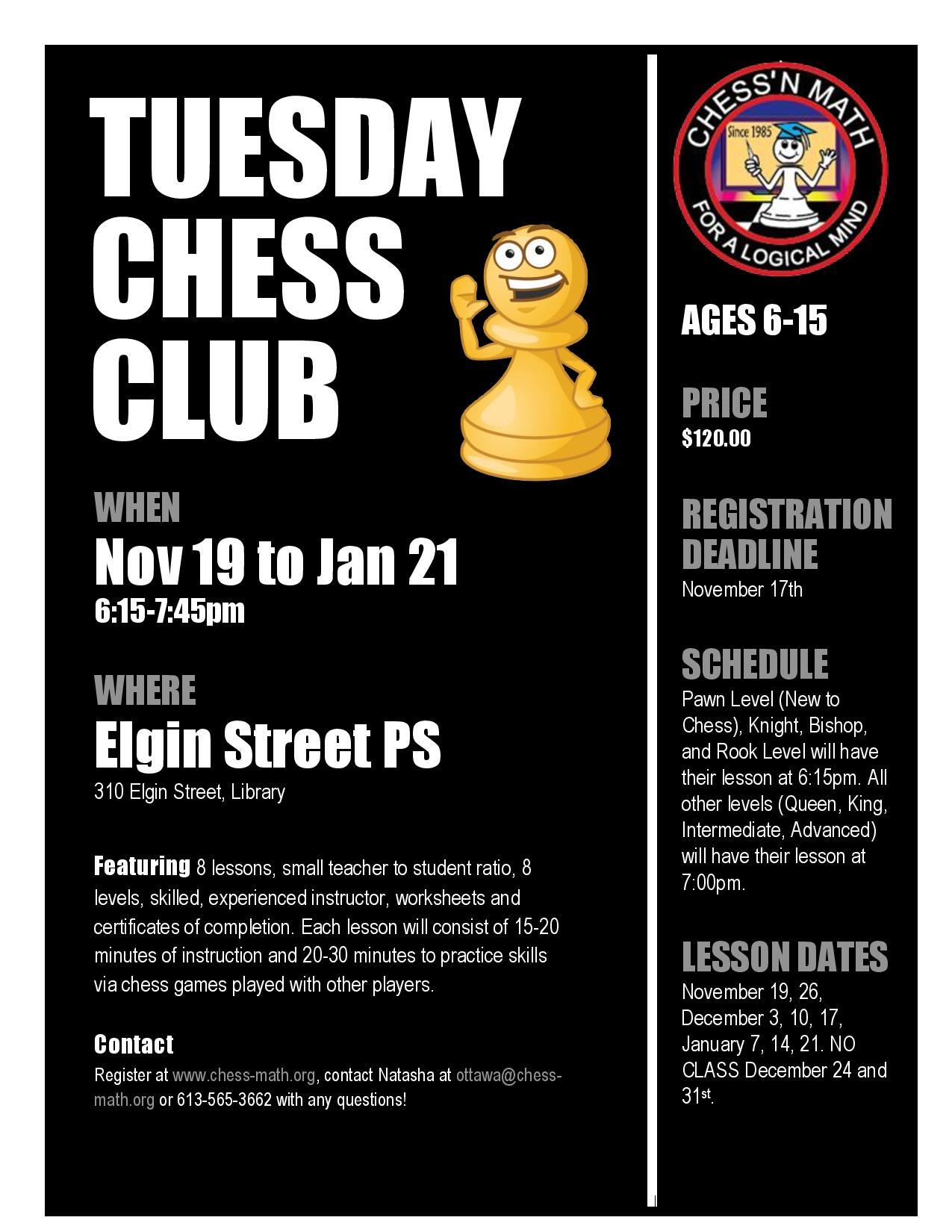 Centretown Chess Club  Fall 2019