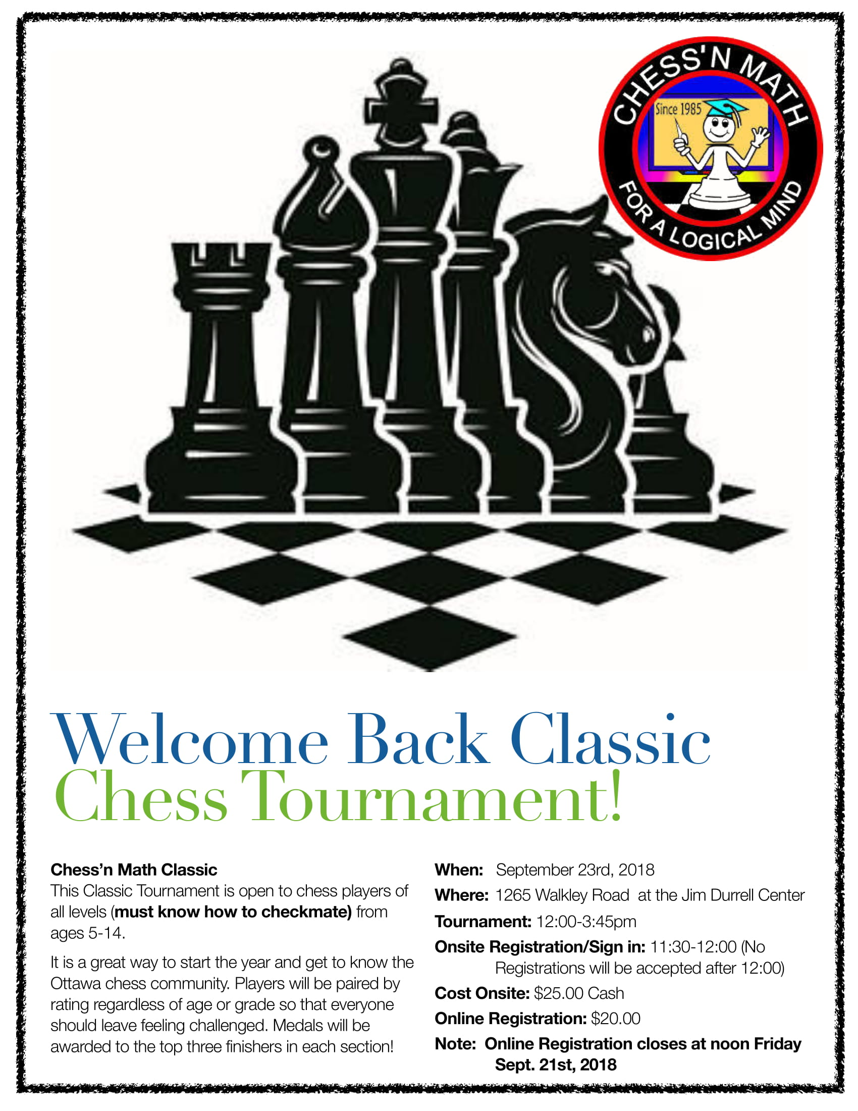 Welcome Back Classic Tournament Fall 2018