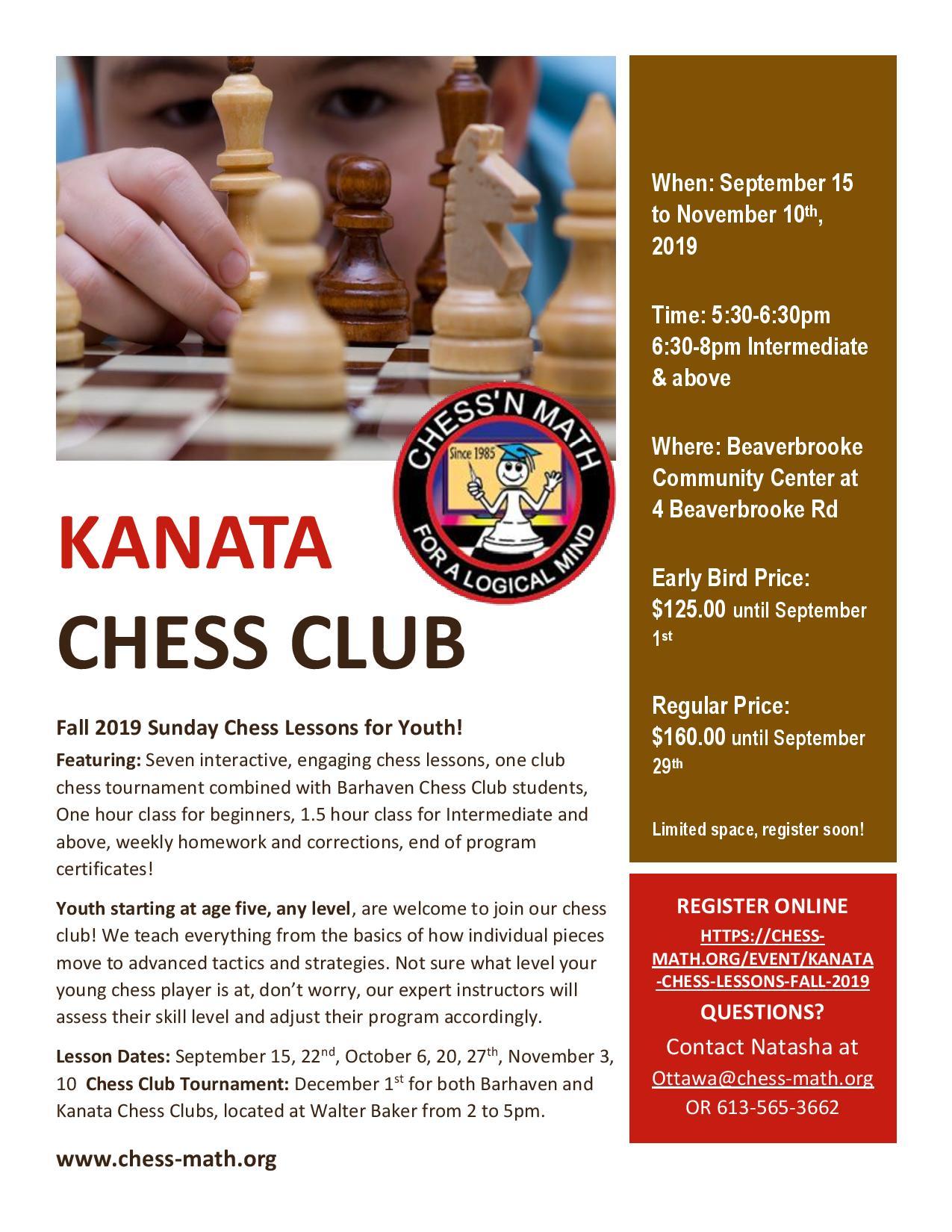 Kanata Chess Club Fall 2019