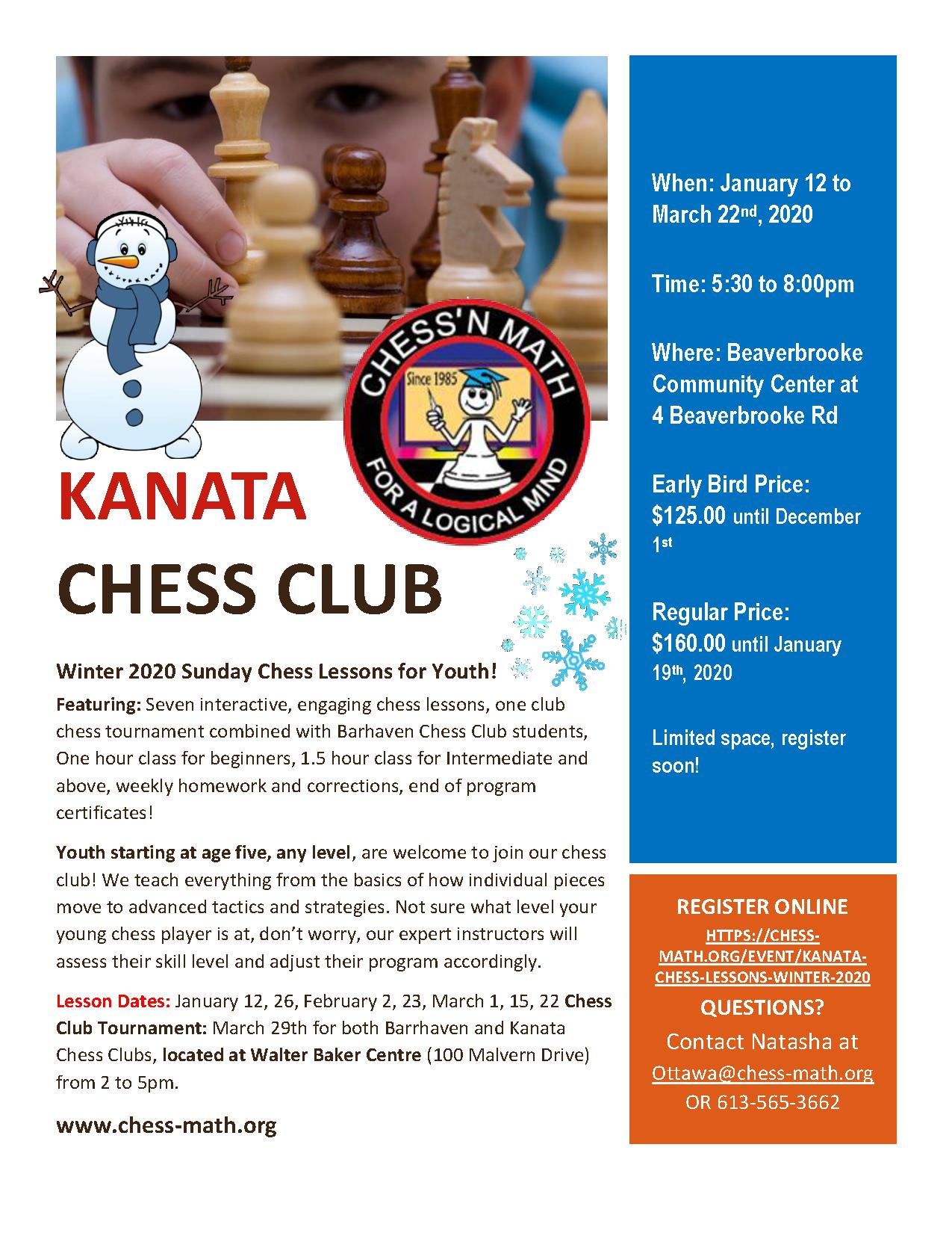 Kanata Sunday Chess Club Winter 2020