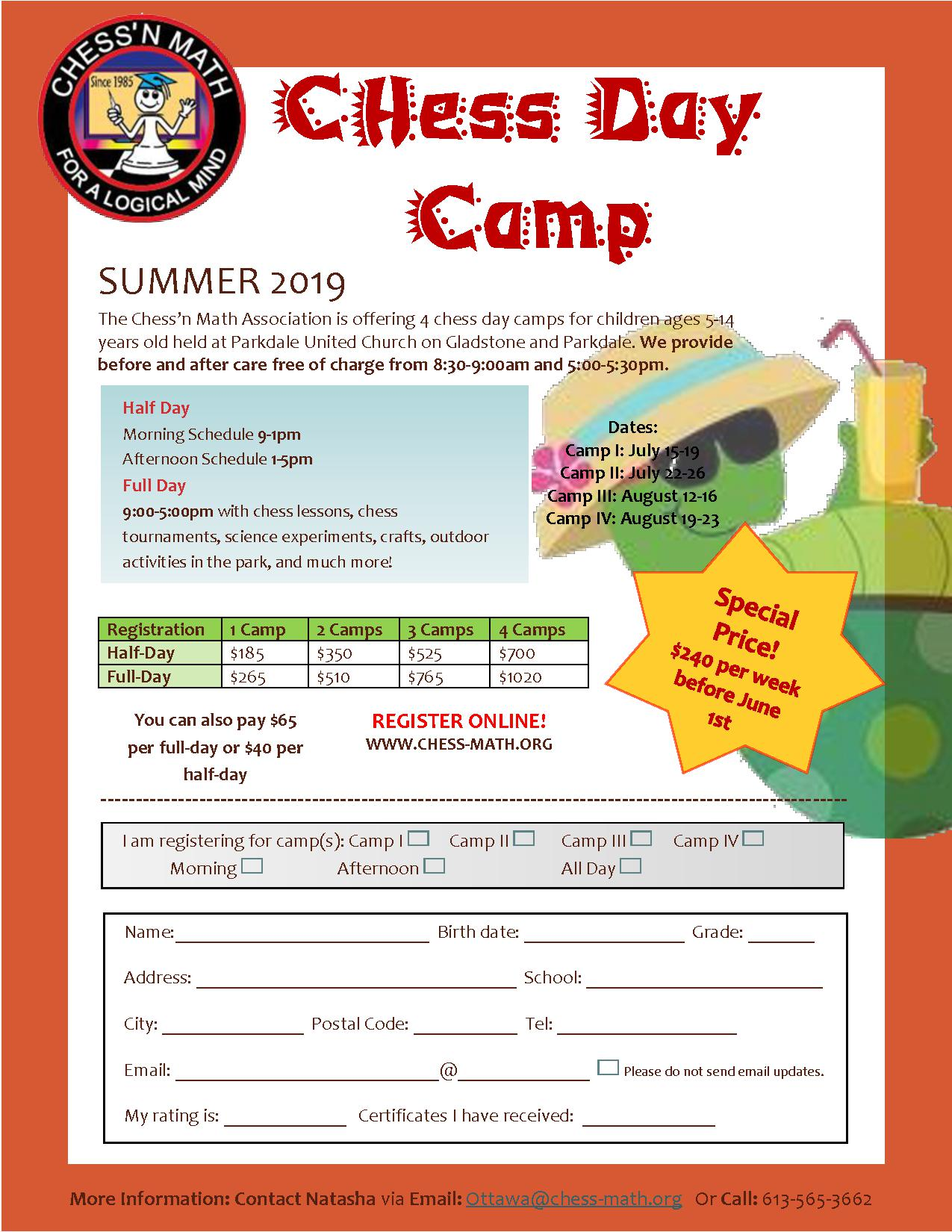 Ottawa Summer Camp 2019
