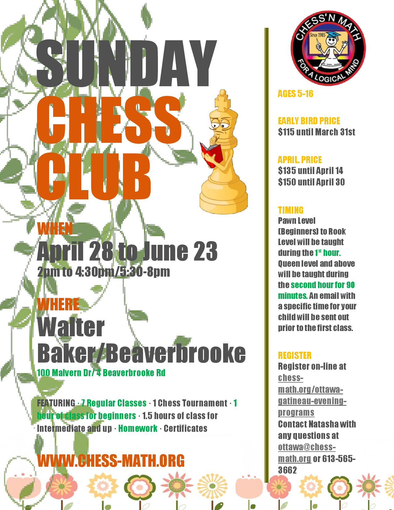 Sunday Spring Chess Club 2019