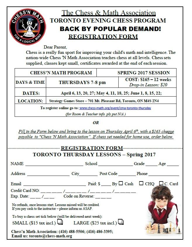 CMA Toronto Spring 2017 Registration