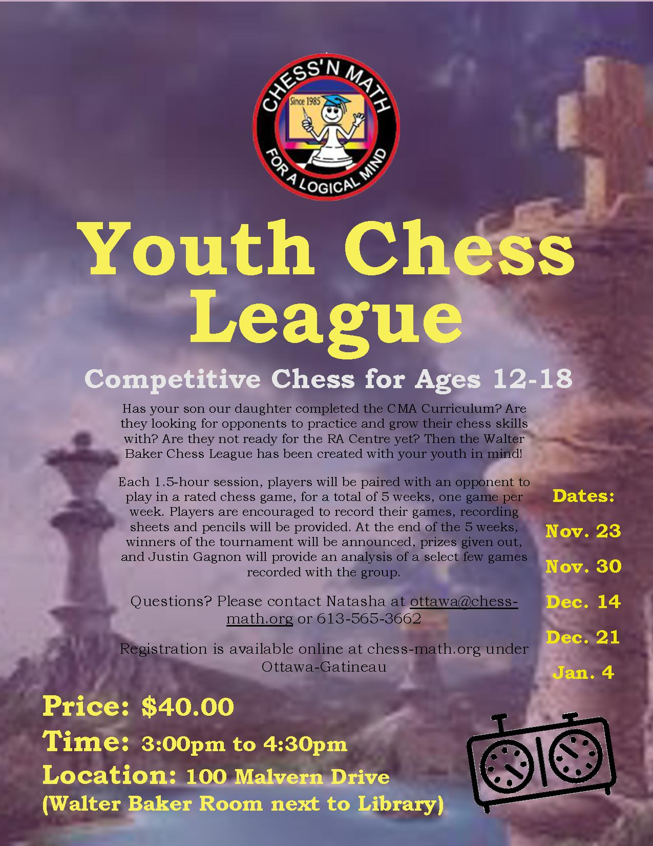 Youth Chess League Pilot